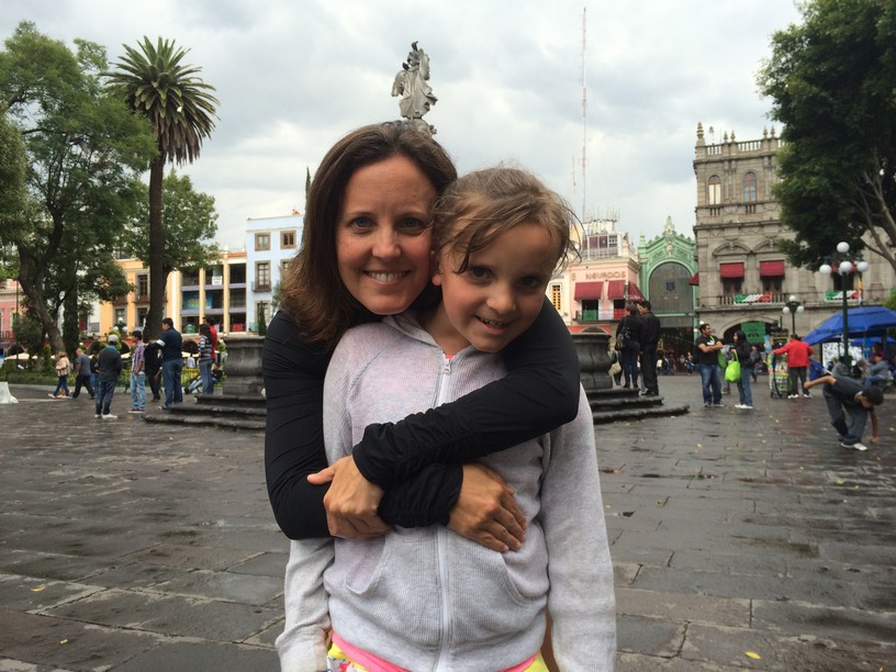 The girls in the Puebla Zocalo