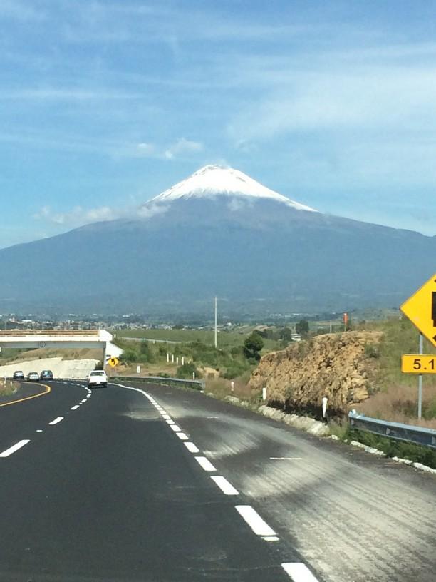 Mount Popcatepetl Volcano rises to almost 18,000 feet above sea level