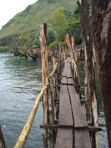 I thought it was quite fun walking on the planks. It was sturdy enough.