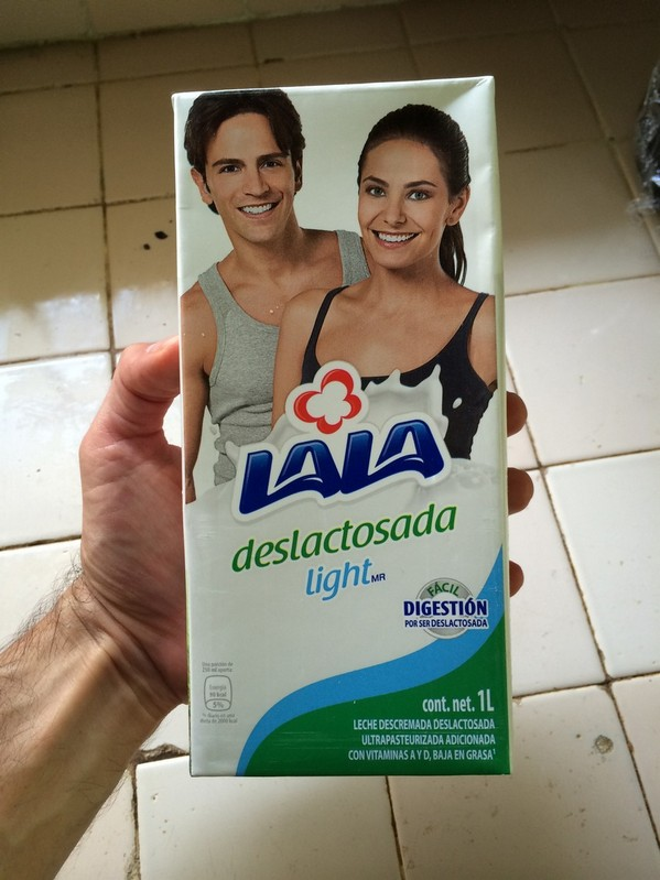 This is a 1 liter box of lactose free skim milk. It has never been refrigerated.