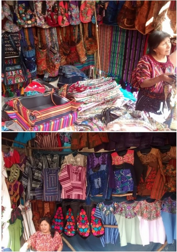 Traditional, and more modern, mayan clothing and accessories were everywhere