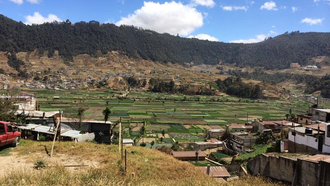 The nearby farming pueblo of Almolonga