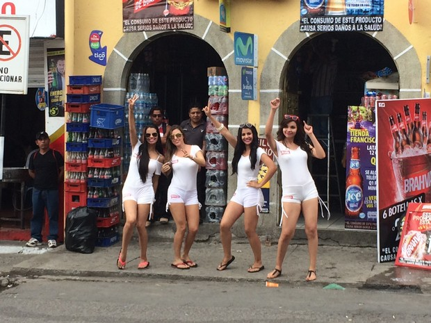 The friendly Brahva Girls! We can tell you what kind and color underwear each was wearing.