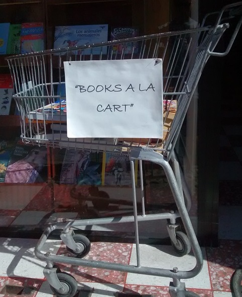 Books for sale at a look bookstore in Panajachel.