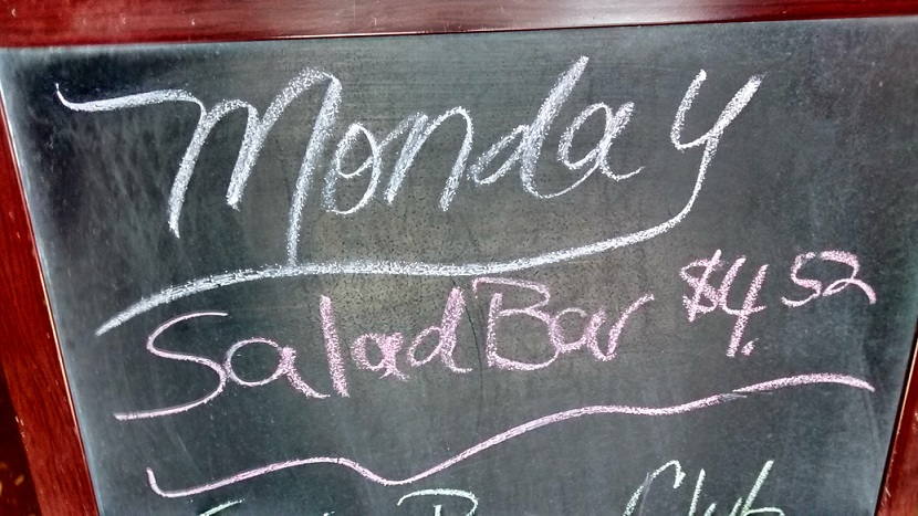 A Salad Bar in Richmond, MO cost exactly $4.52 (at least on Mondays).