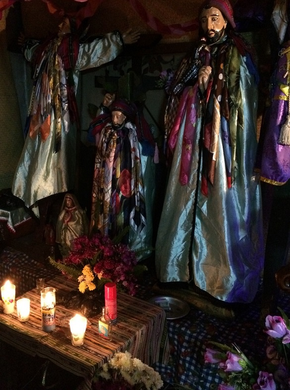 An homage to other Saints in the shrine for Maximon.