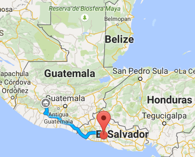 Theour route for our first day of travel.