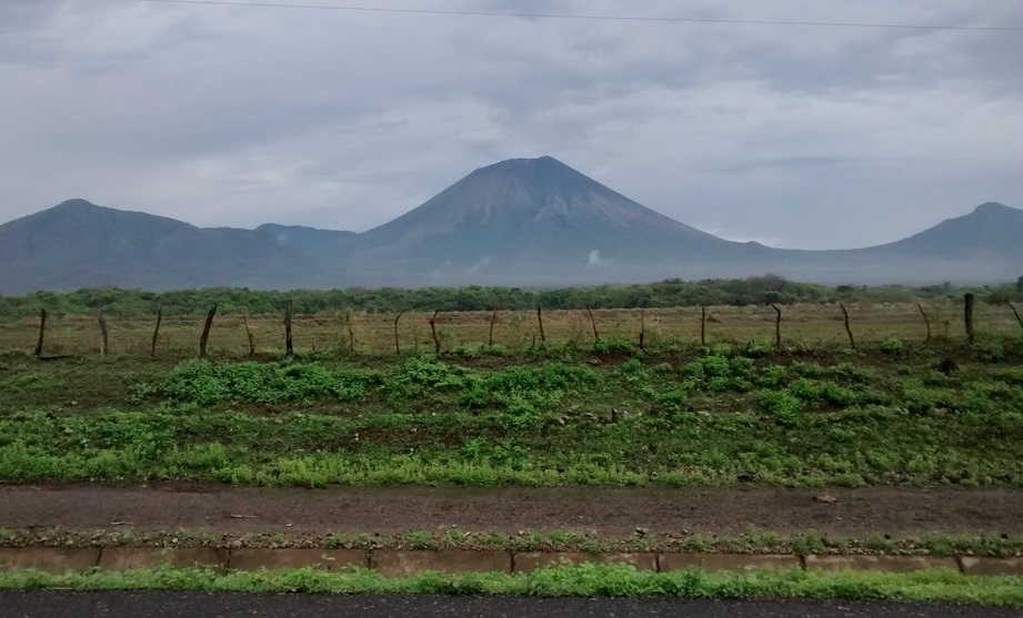 The countryside in Nicaragua is pretty. This is the San Cristobal volcano. At just over 5,700 feet it is the highest volcano in the country. Yes, it is active!