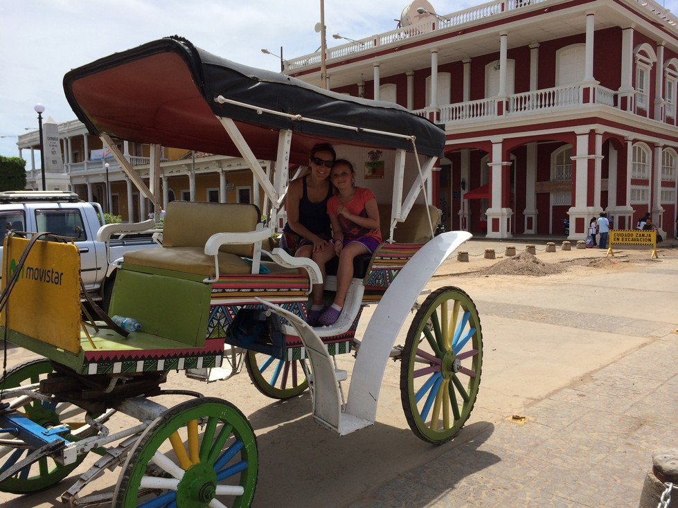 For $5 each, we took a horse and carriage ride through town and to Lake Nicaragua.