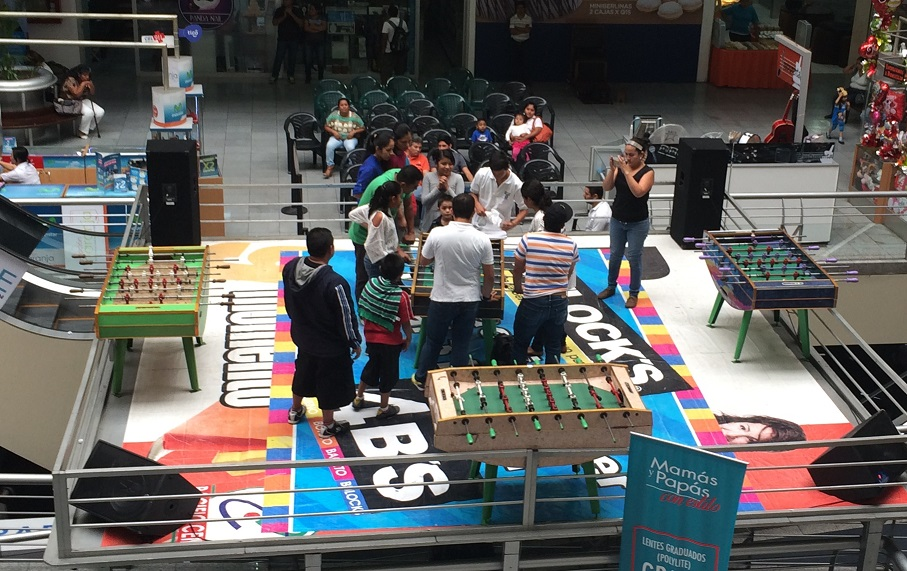 Foosball Tournament Championship at the mall! This was day 4 of a serious competition. There was an emcee giving the play-by-play the whole time. It was very loud!