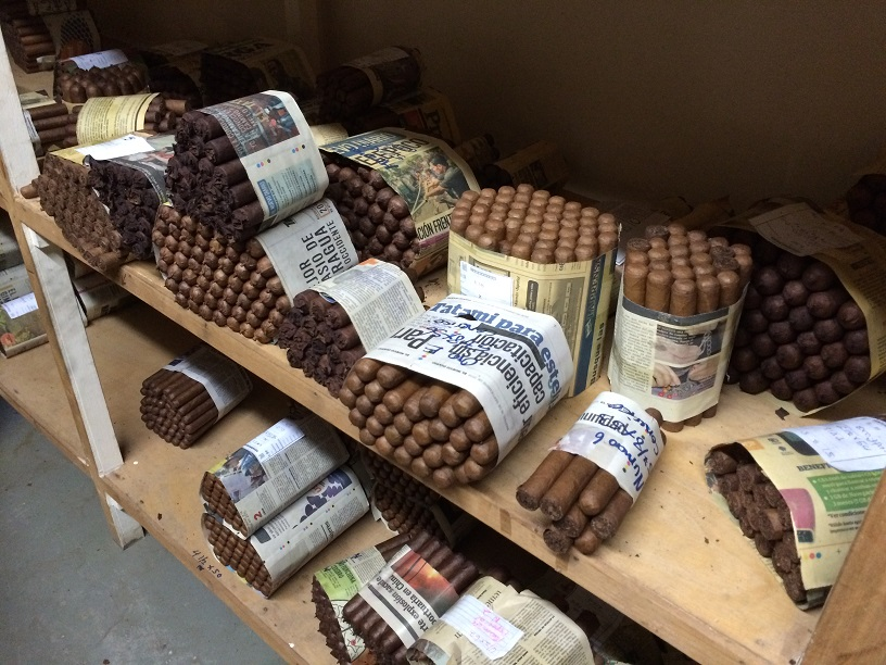 Completed cigars are aged for 2-3 weeks and sell for $1-2 per cigar.