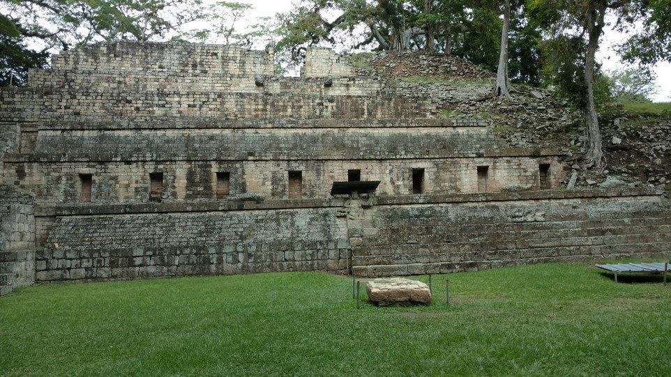 Notice how the trees on the right have rooted into the ruins