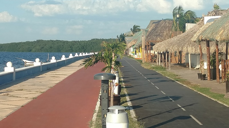 We had mixed reviews about the malecon of Campeche. As you can see, it's beautiful with lanes for biking, walking, and enjoying the views. However, much of it was accompanied with a foul smell and it was next to a busy 4-lane road.