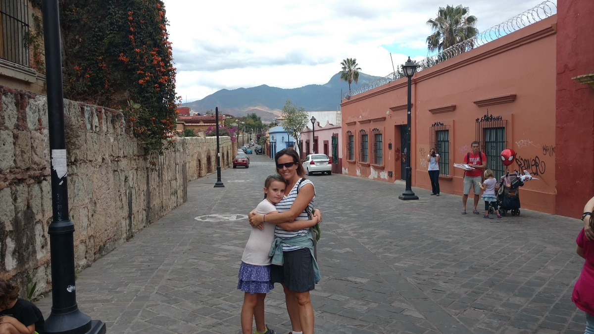 Mick and Ela on the streets of Oaxaca