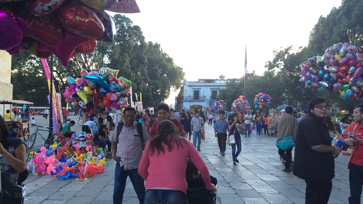 Street vendors selling all kinds of celebratory gifts
