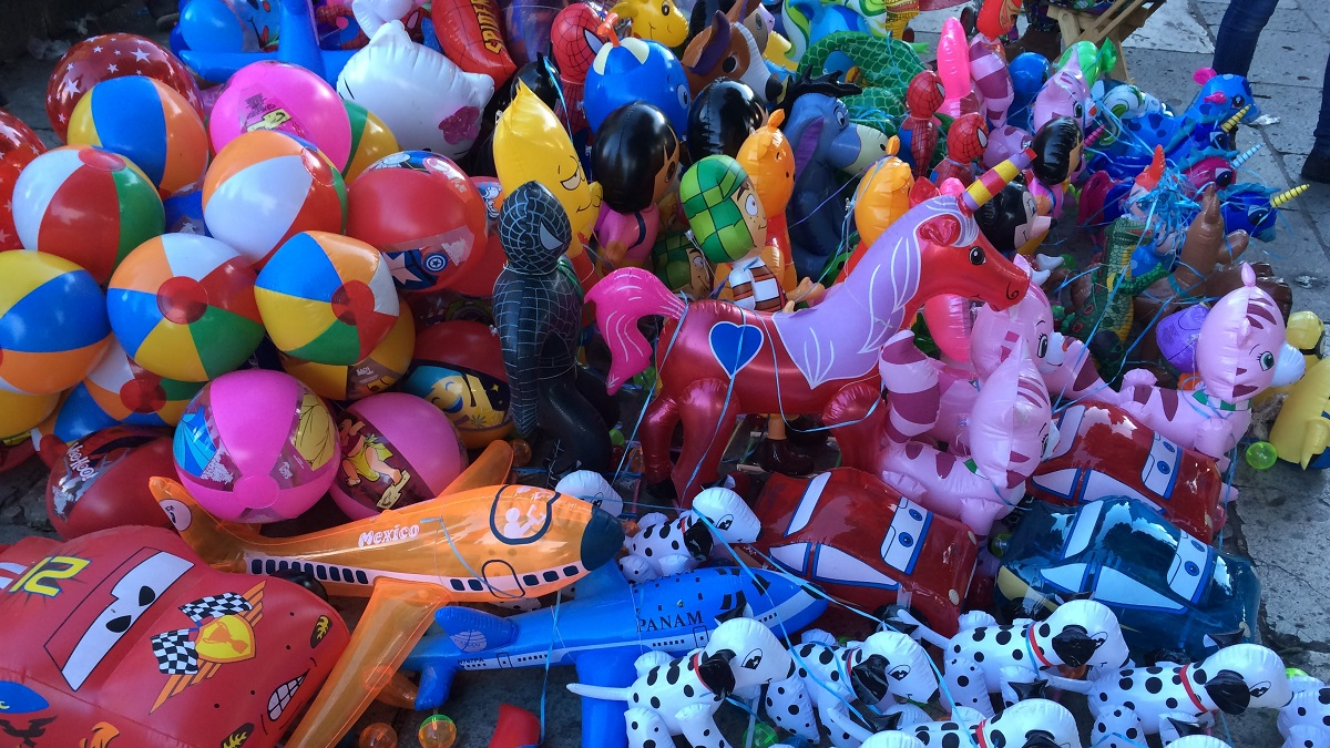 There were ample cheap carnival like toys
