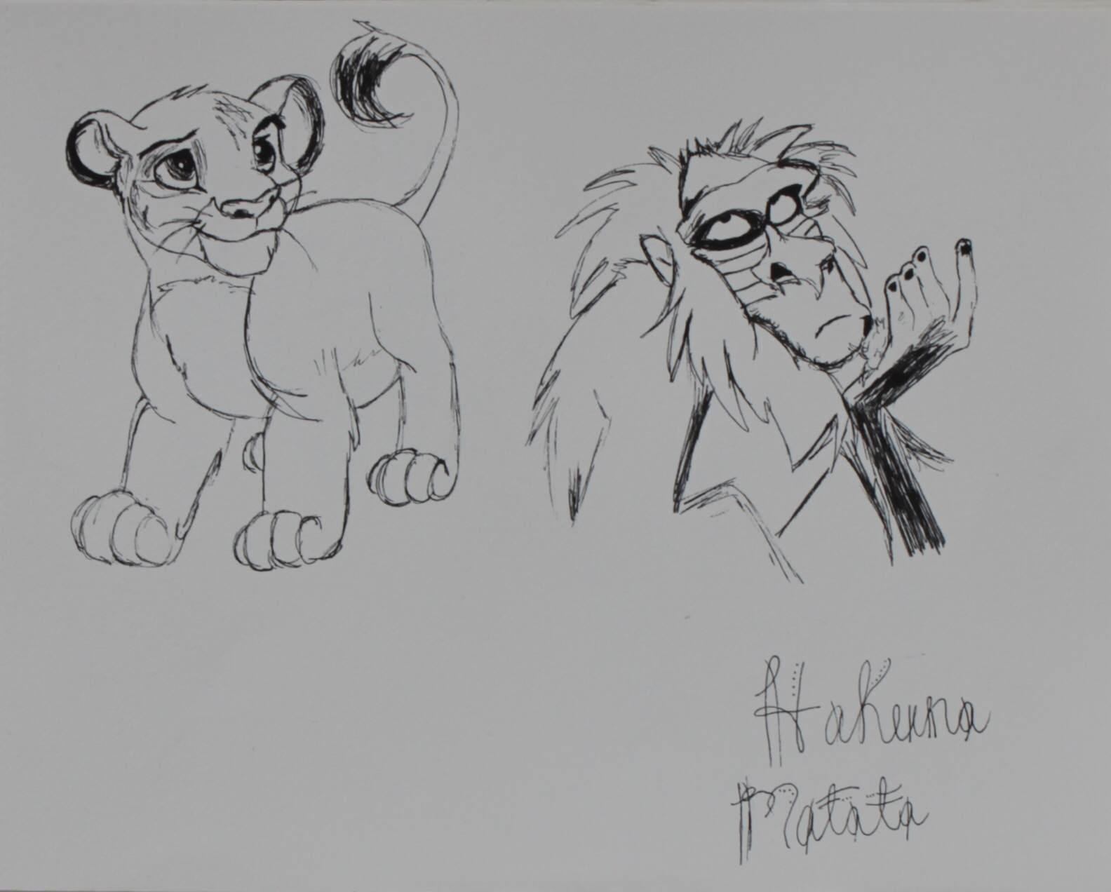 """Simba & Rafiki"""