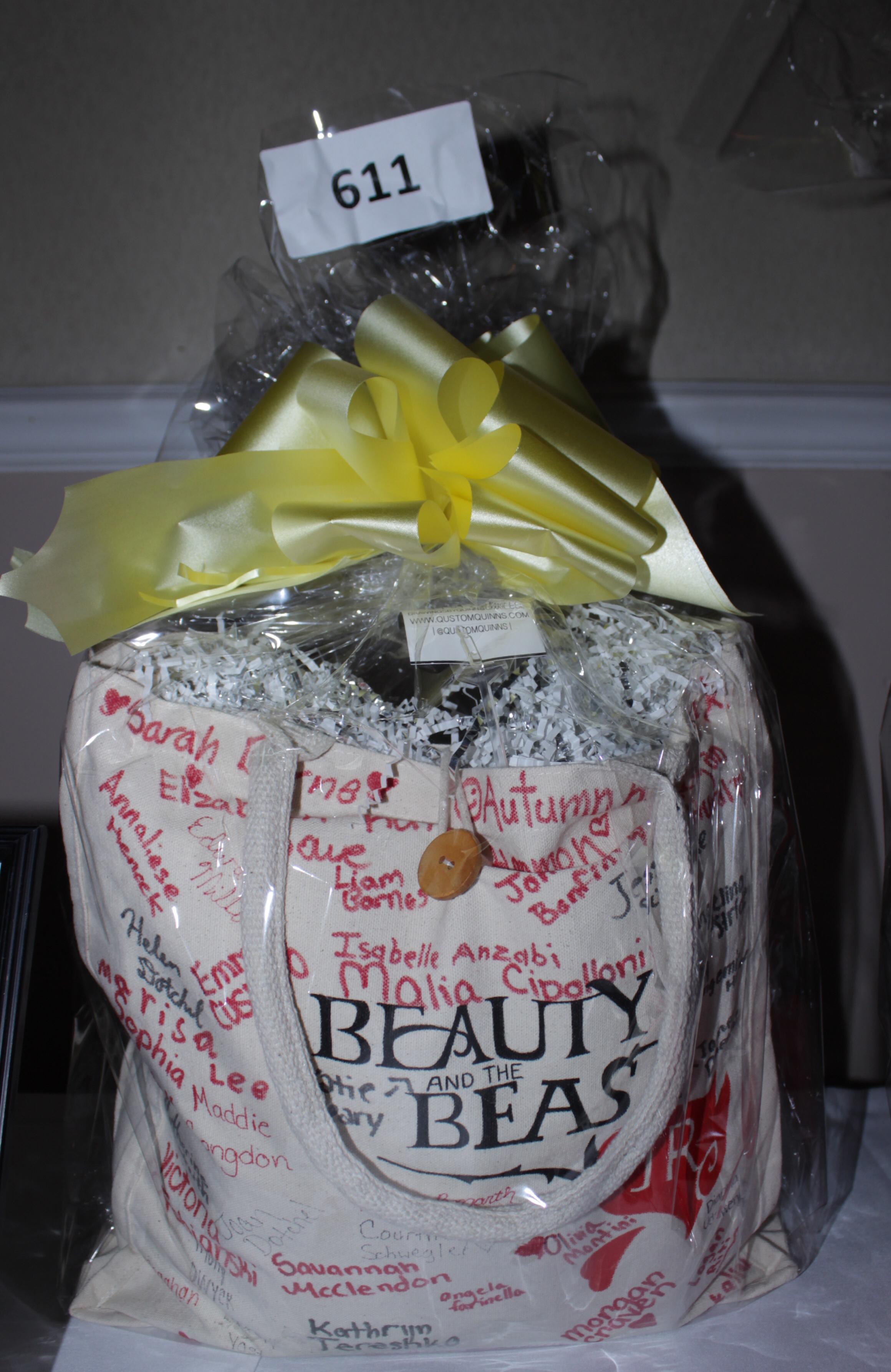 Beauty + the Beast  Qustom Tote  signed by the cast.