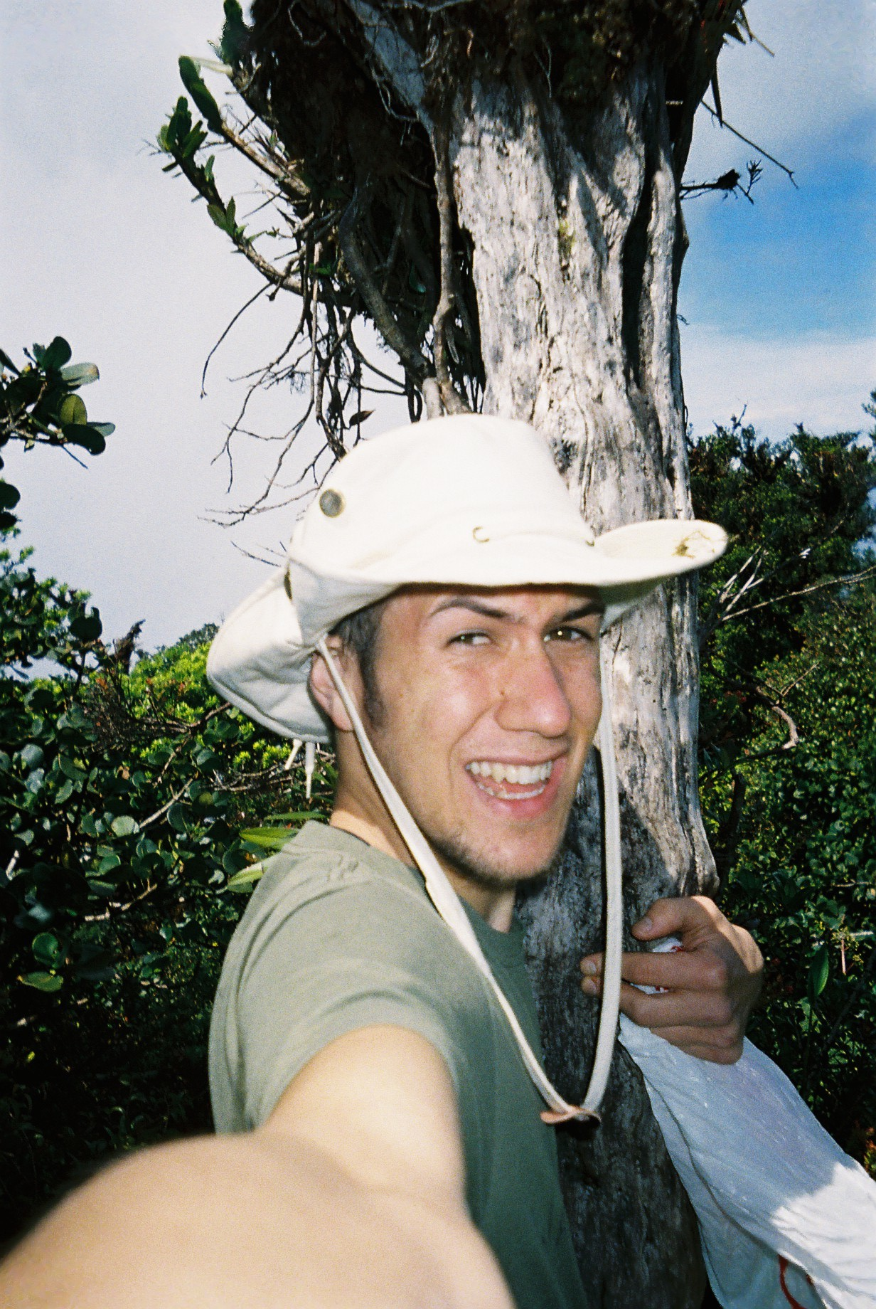 pre-jaguar selfie. ignore the ugly hat.