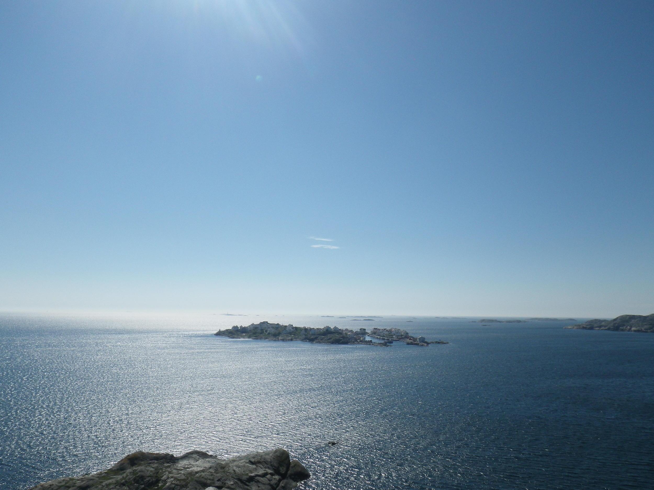 The island of  Å stol, as seen from the peaks of Dyrön