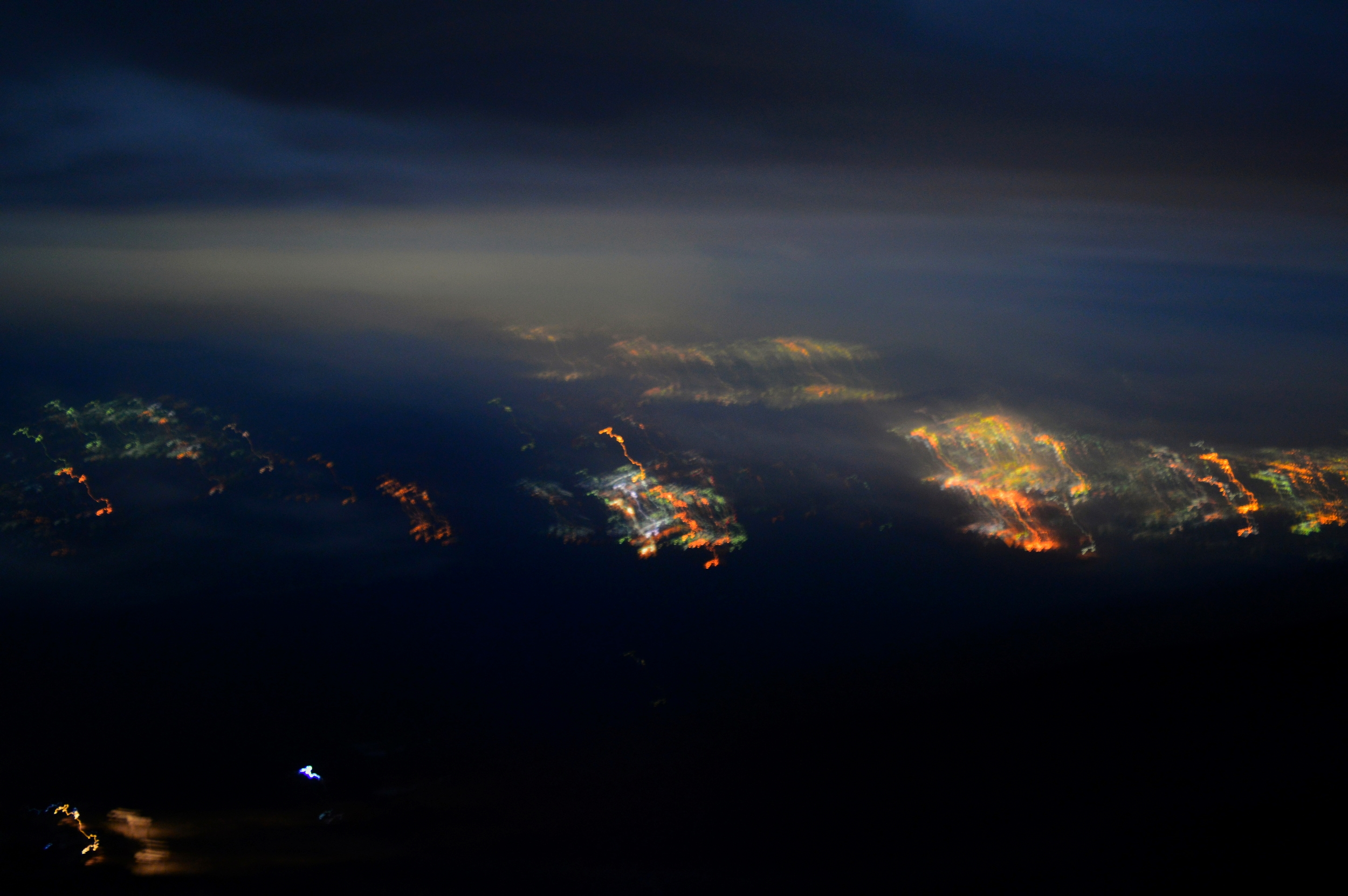 the blurry lights of Japan