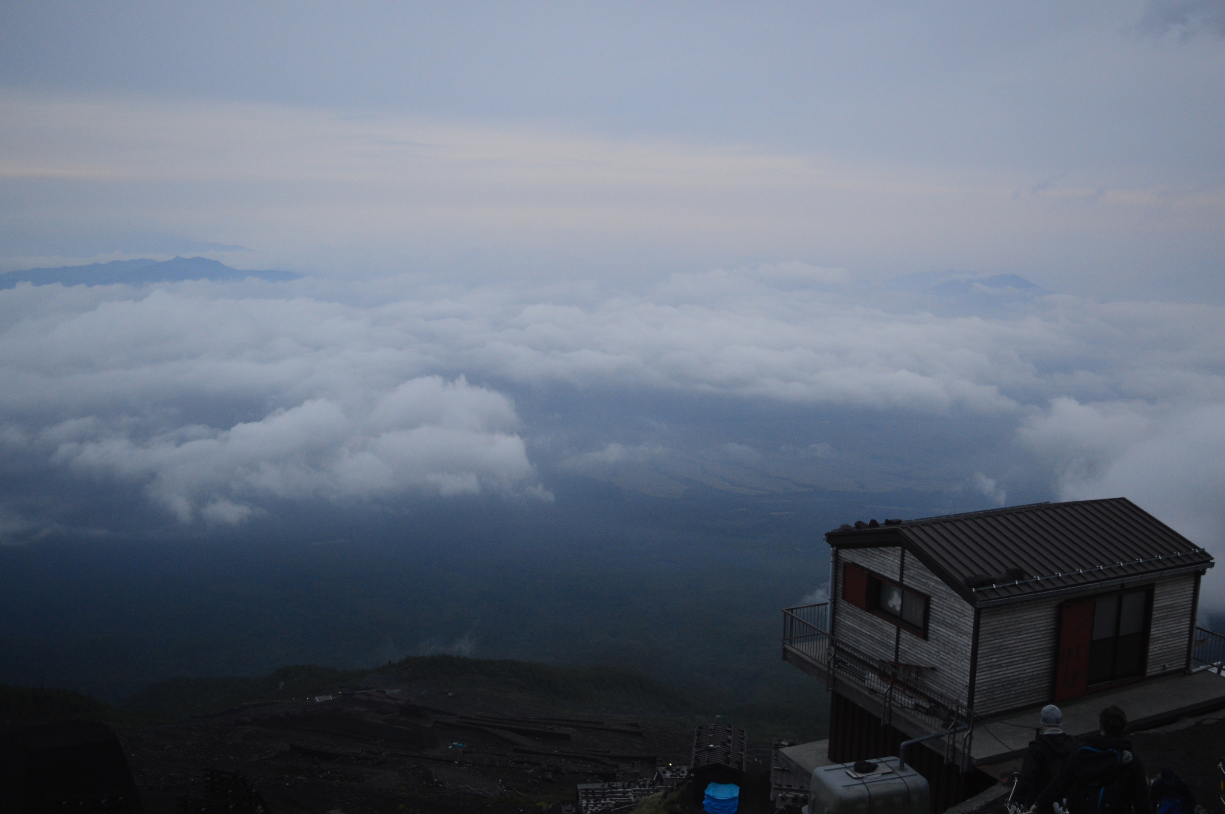 Climbing Mount Fuji. Bears on Mount Fuji.