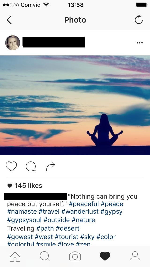 Fake meditation pose by a douchebag Digital Nomad