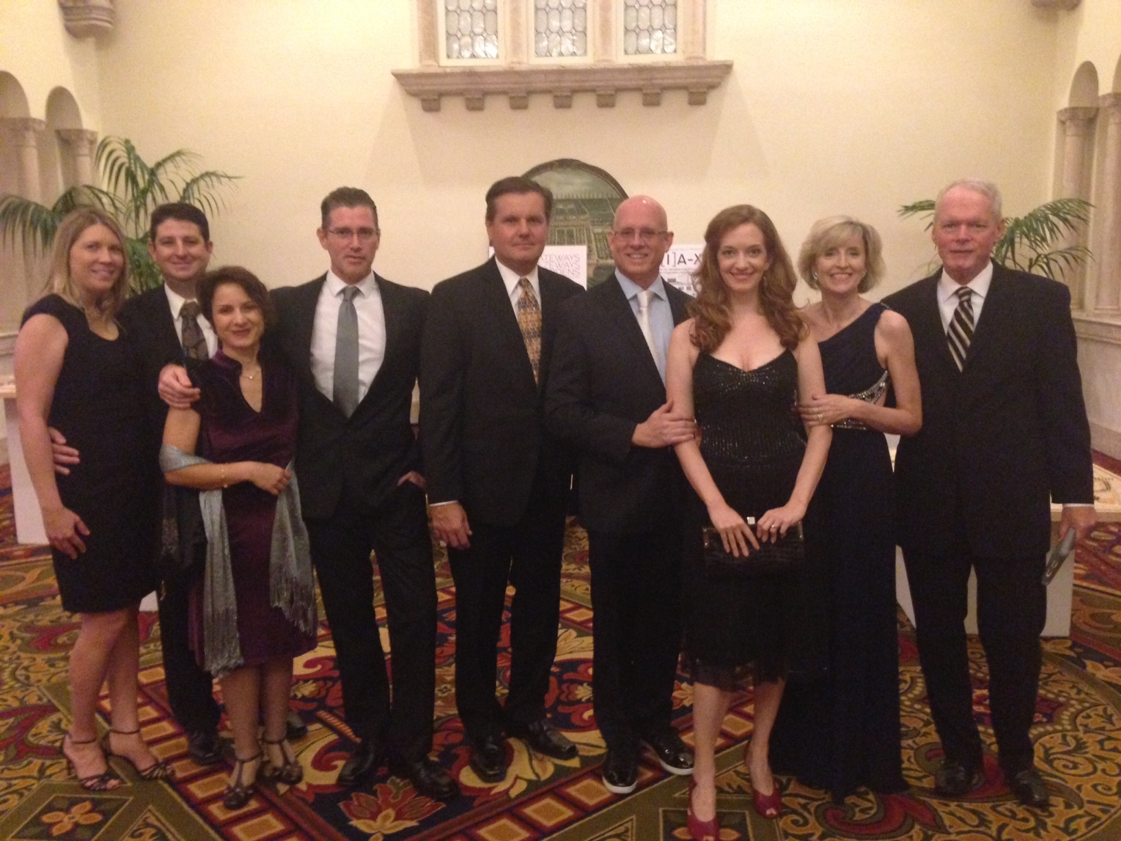 The Solstice team - Wendy, Todd, Selma, John, Chris, Jonathan, and Kathryn - with Cheryl and Harold Bubil.