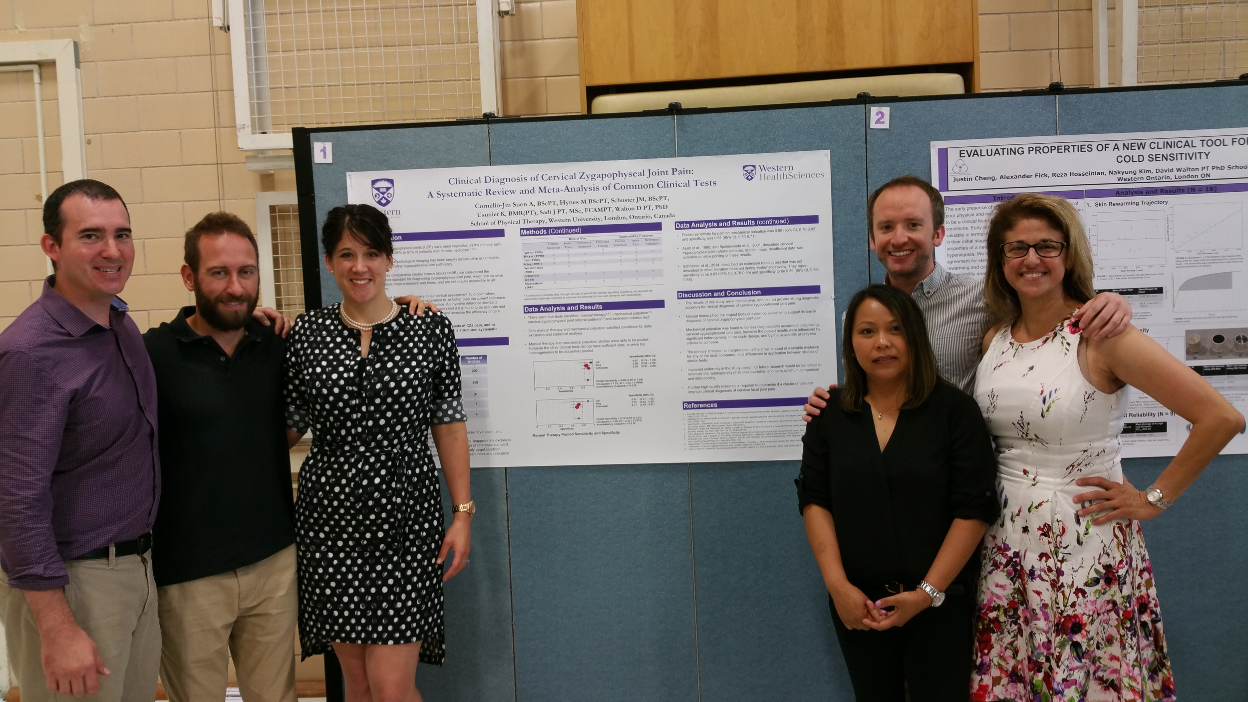 Dr. Dave Walton, James Schuster, Kendra Usunier, Annie Cornelio-Jin Suen, Mark Hynes and Prof. Jackie Sadi: Clinical Diagnosis of Cervical Facet Joint Pain: A systematic review and meta-analysis of common clinical tests