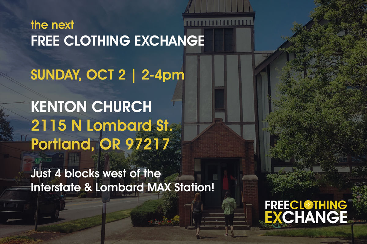 Come join us Sunday, October 2nd at Kenton Church for the Fall Free Clothing Exchange!