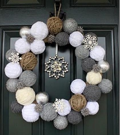 Two Junk Chix  Snowball Wreath