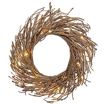 Z Gallerie  LED Glitter Wreath  $80