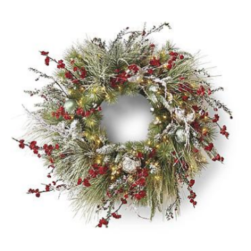 Frontgate  Christmas in Connecticut Pre-Decorated Wreath  $429