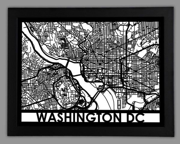 Cutmaps  Washington DC City Map  $150