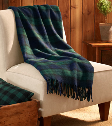 L.L. Bean  Bean's Washable Wool Throw  $89