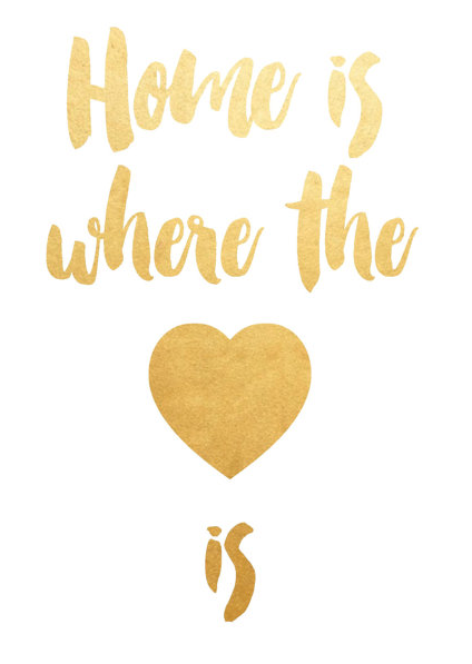 Paper Storm Prints  Home is Where the Heart is  $6