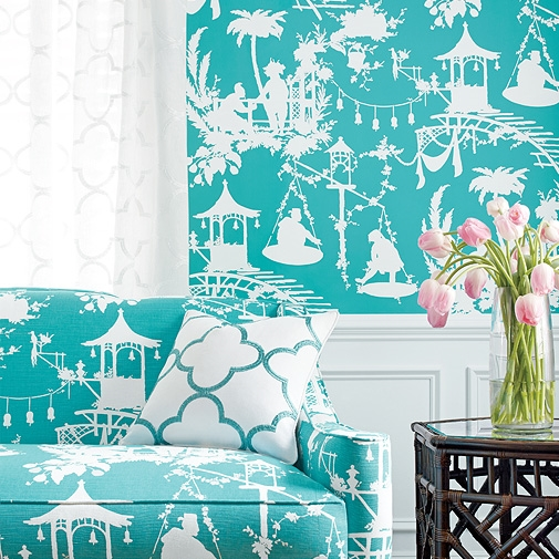 Thibaut -  South Sea  in Turquoise (Available through your designer)