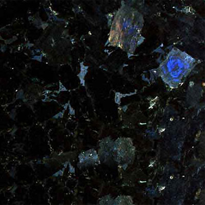 An iridescent granite: Volga Blue Granite -  Source