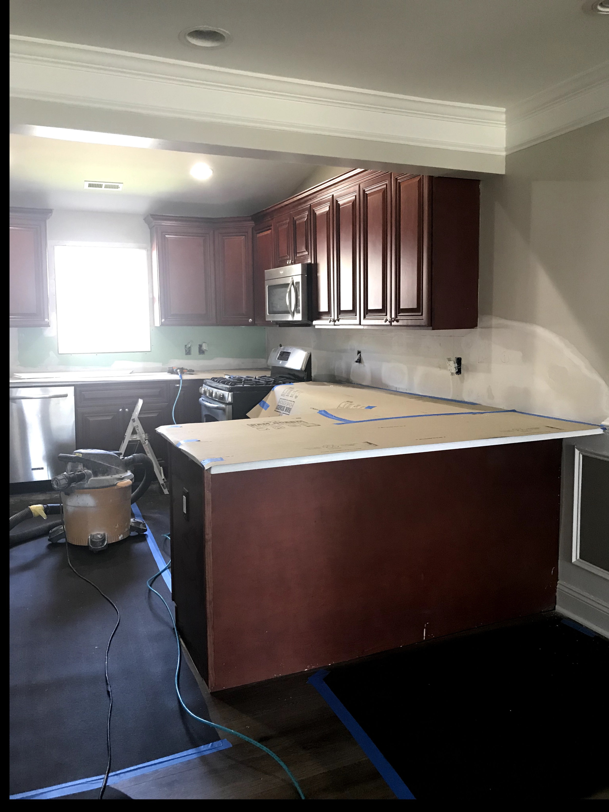 Floors and counters in