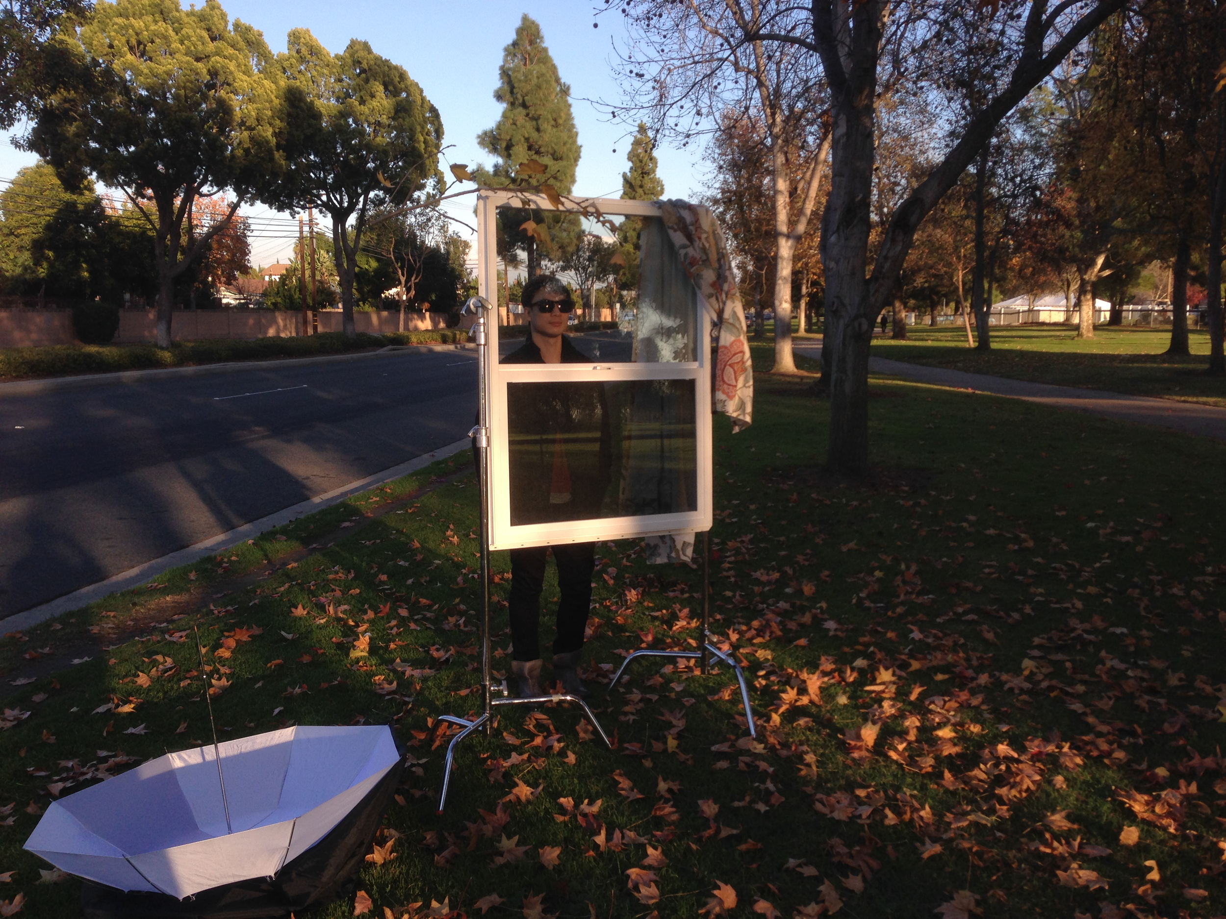 Picking up a window POV shot in Orange County, CA.