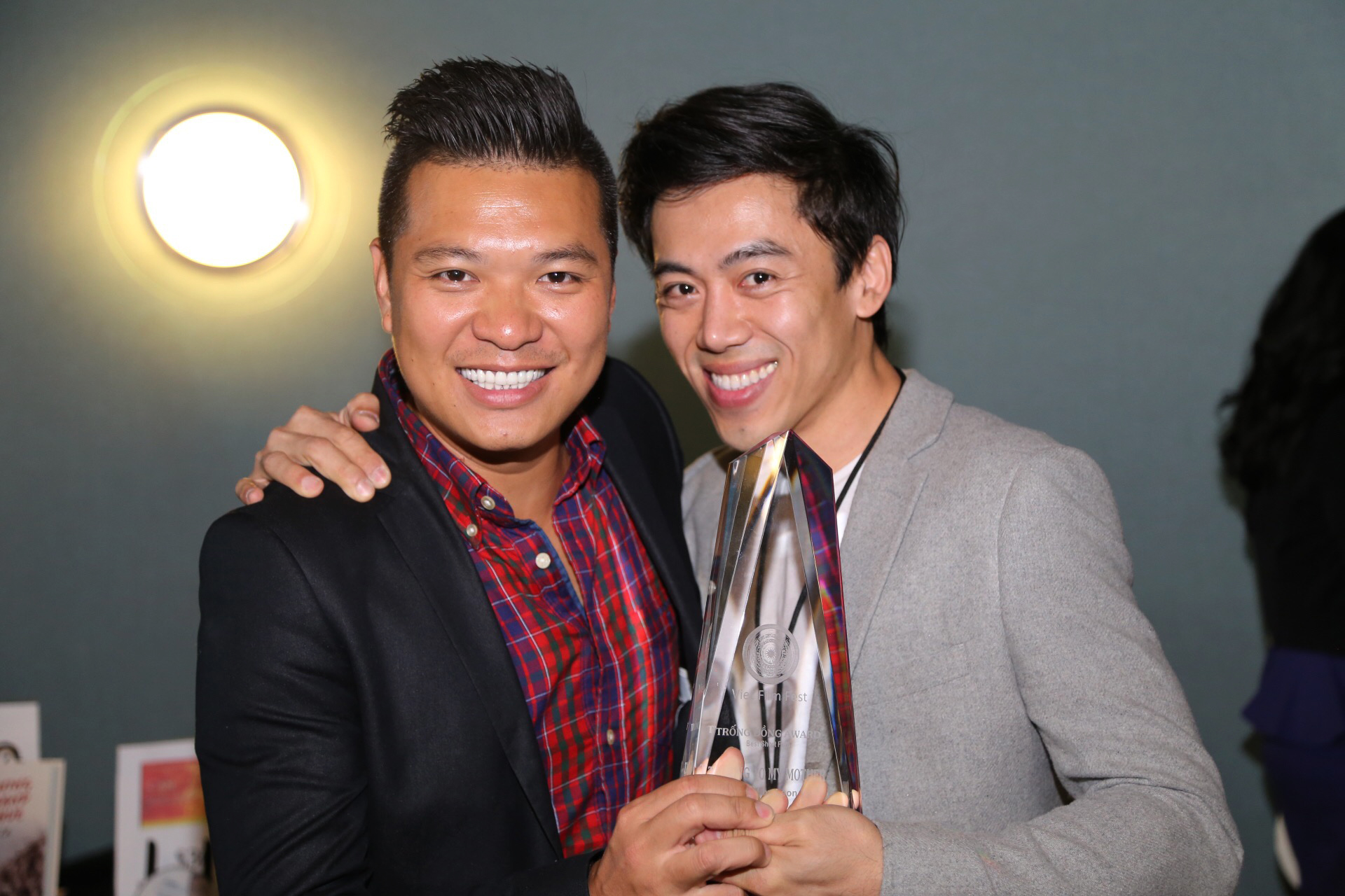 Director Cuong Ngo and director Leon Le at the Viet Film Fest 2015.