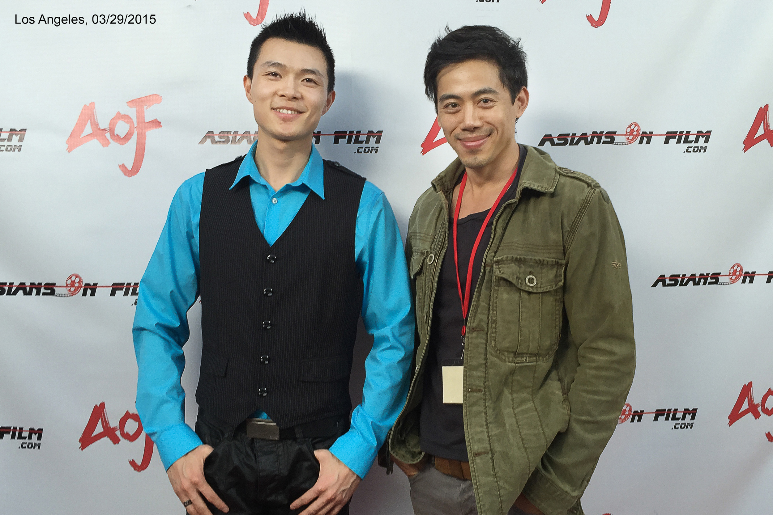 Actor Zilong Zee (nominated for Best Actor) and director Leon Le at the Asians on Film Festival 2015 in Los Angeles.