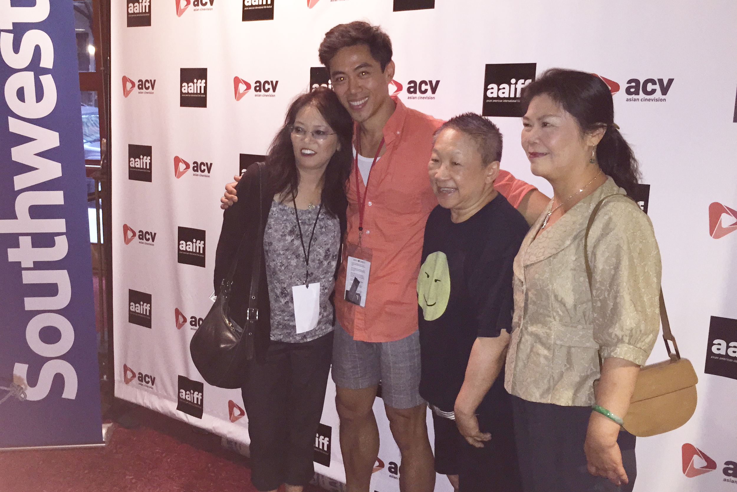 Actress Nancy Eng, director Leon Le, actress Lori Tan Chin and actress Min-Wen Huang at the Asian American International Film Festival screening in New York City, 07/25/2015.