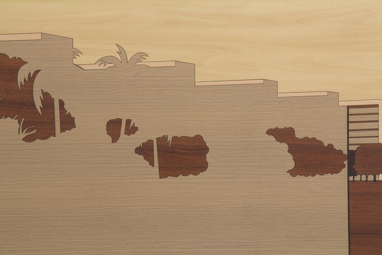 Paisagem Brasileira 3 (detalhe) • 2013/2014 • Laminado Melamínico (Fórmica) cortado à laser • 80,5 x 150,5 cm