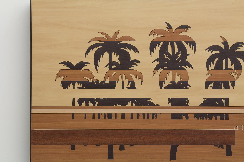 Paisagem Brasileira 6 (detalhe) • 2013/2014 • Laminado Melamínico (Fórmica) cortado à laser • 78 x 151 cm