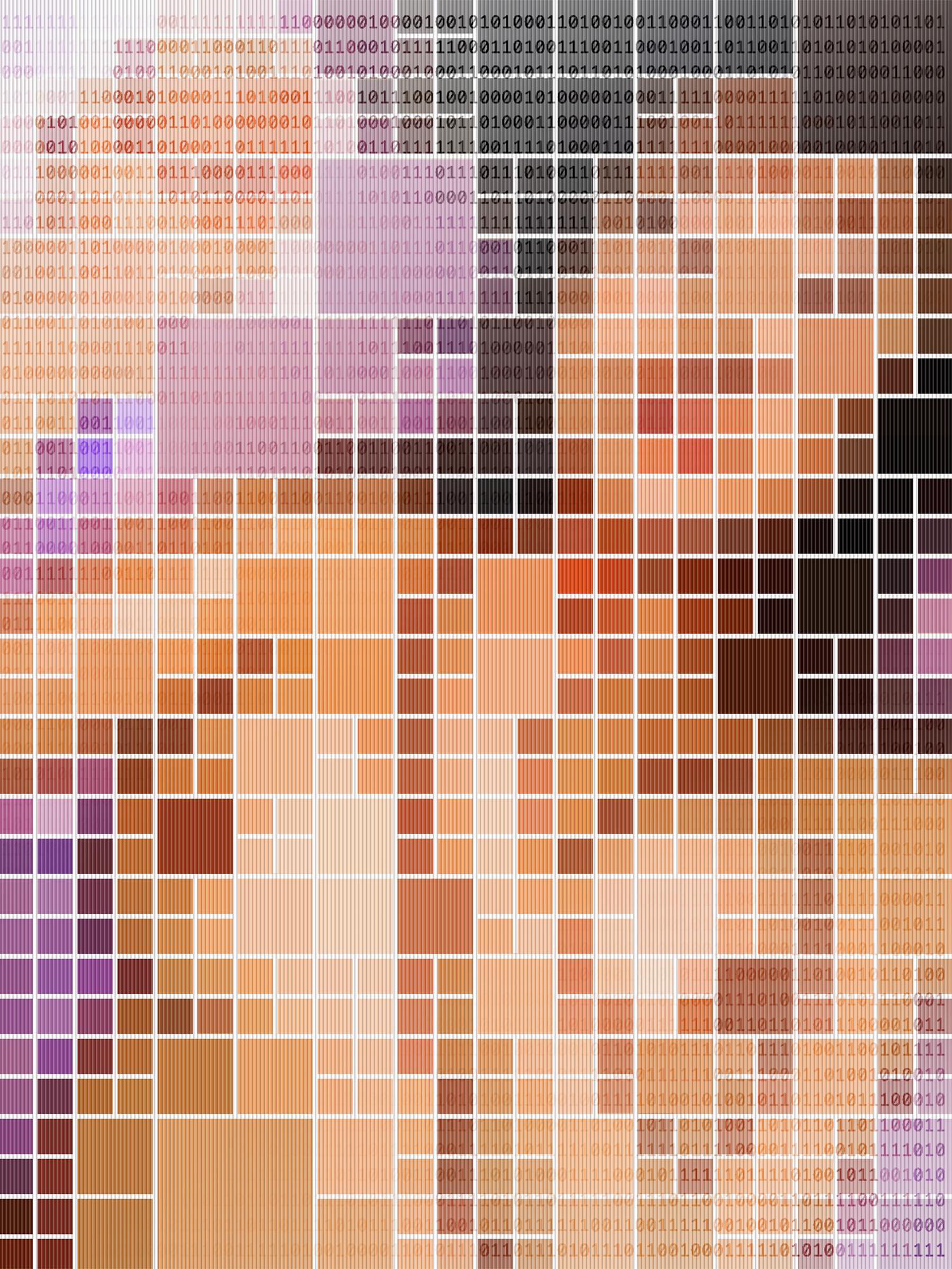 Binary Nude #3 •2005 •Photograph, lenticular print •23.6 x 17.8 in