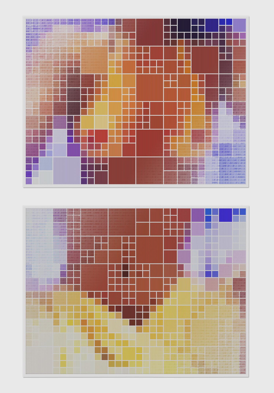 Binary Nude #5 •2005 •Photograph, lenticular print •23.6x 31.5 in (each)