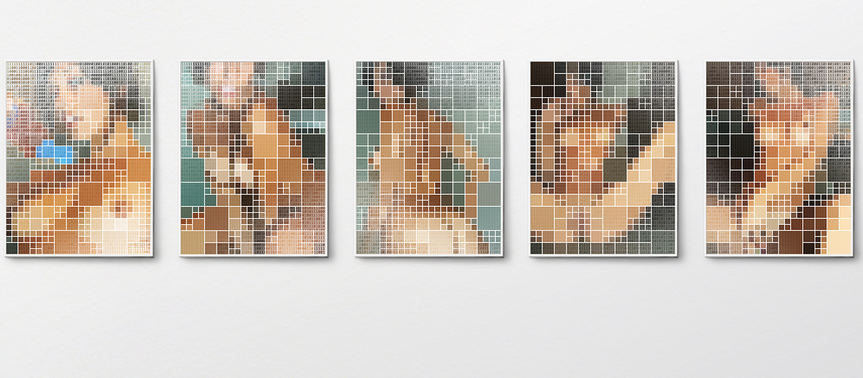 Fwd: honey (Fw: Enc: Attach series) •2007/2008 •5photographs, lenticular print •   15.7 x 11.8 in (each)