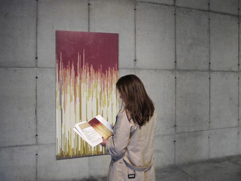 Atividades Diárias  (  série Autorretratos Estatísticos) •2012 • Acrílica sobre tela + livro de artista •2,0 x 1,0 m