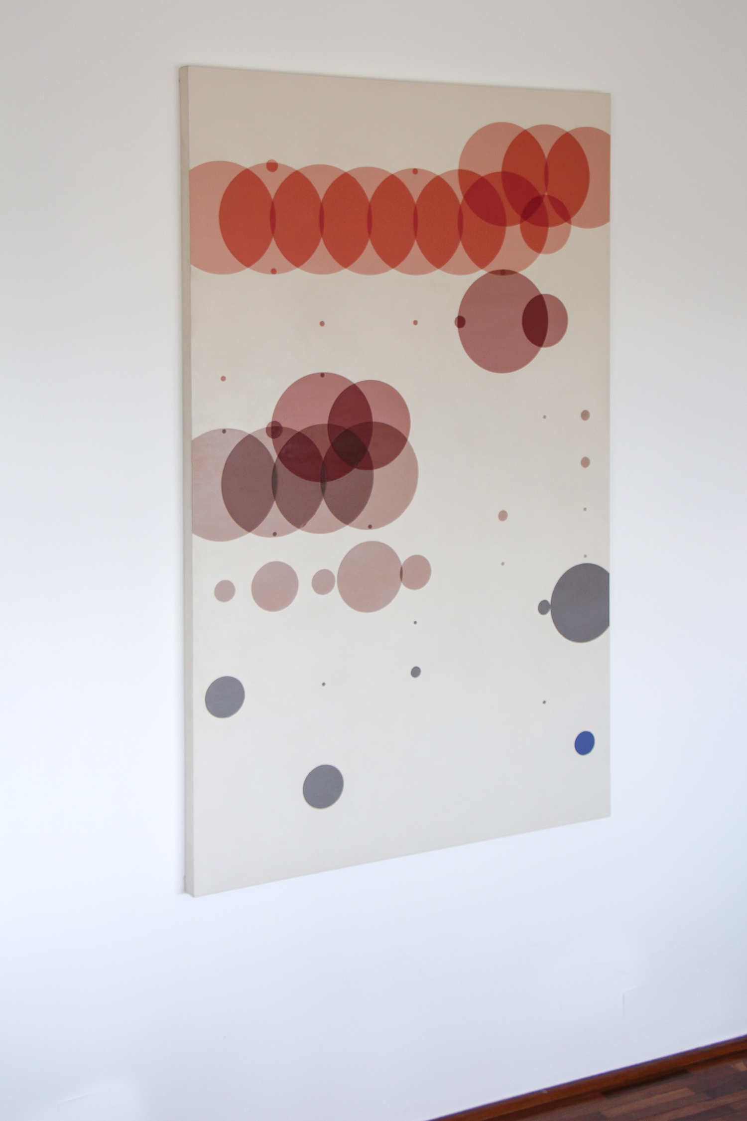 Time with Daughter   (  Statistical Self-portraits series)   • 2012 •   Acrylic on canvas + artist book   • 59.06 x 35.43 in